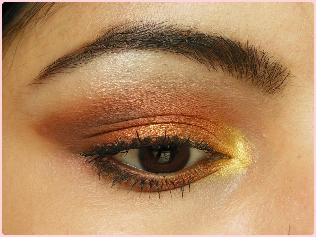 Warm Copper Smokey Eyes Look