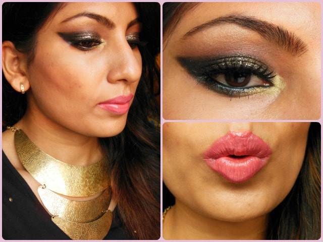 What Am I Wearing Today- Eye Makeup Tutorial- Glittery Black Smokey Eyes