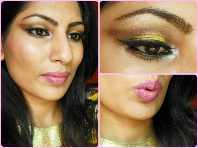 What Am I Wearing Today-Yellow Smokey Eyes