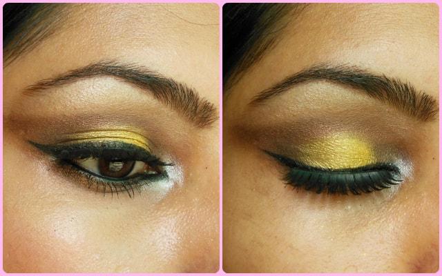 Yellow Smokey Eyes