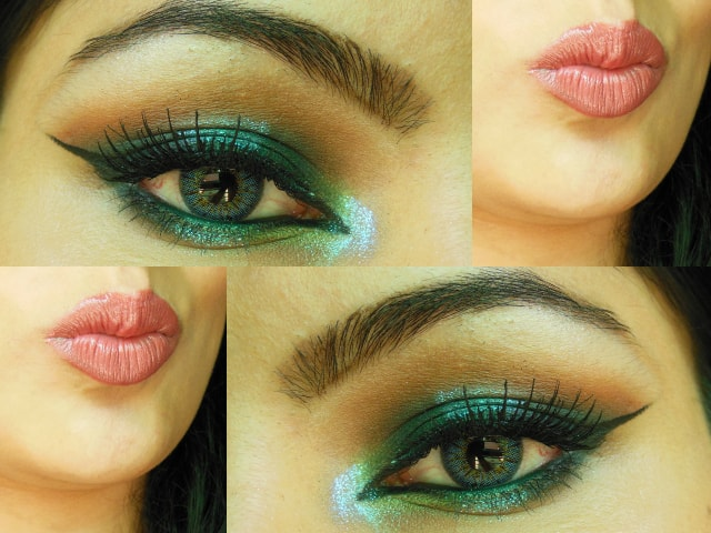 Blue Lights Makeup Look