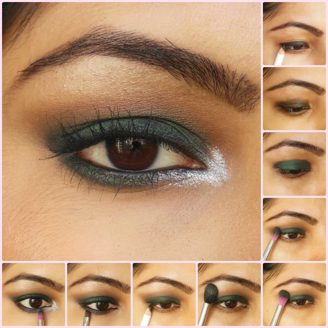 Eye Makeup Tutorial- Dark Green Smokey Eyes