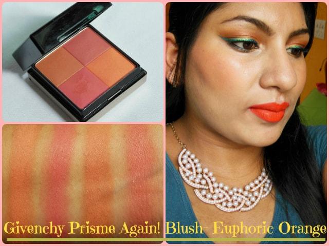 Givenchy Prisme Again Euphoric Orange Blush Look