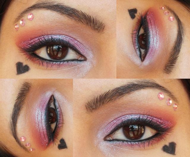 Glittery Pink Eye Makeup