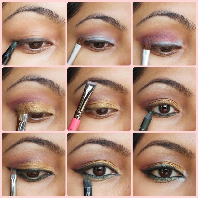 Golden Festive Eyes - Eye Makeup Tutorial