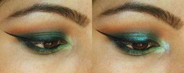 Green Eyes to Shimmery Blue Eyes