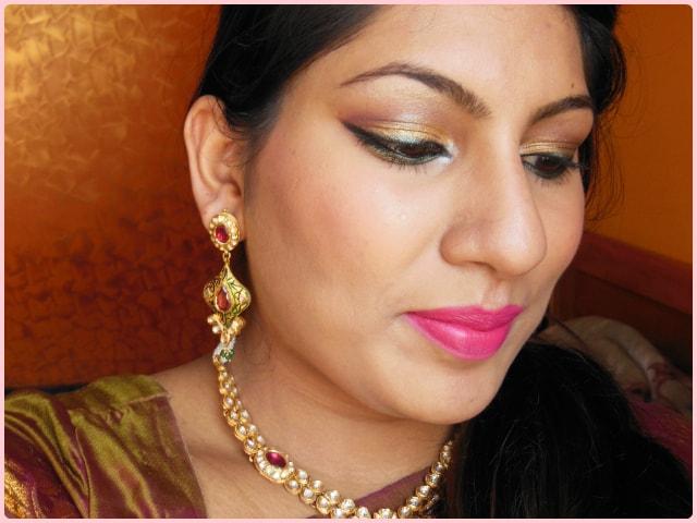 Indian Engagement Makeup Look