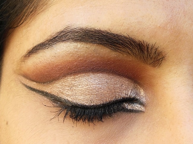 Intense Cut Crease Champagne Brown Eye Makeup