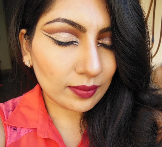 Intense Cut Crease Champagne Eye Makeup FOTD 1