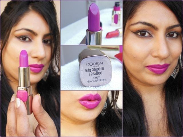 L'Oreal Color Riche Lipstick Glamor Fuchsia Look