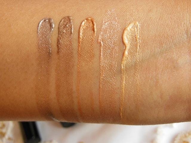 Luxie Glam Eyes Color Primer Liquid Eye Shadows Swatch 1
