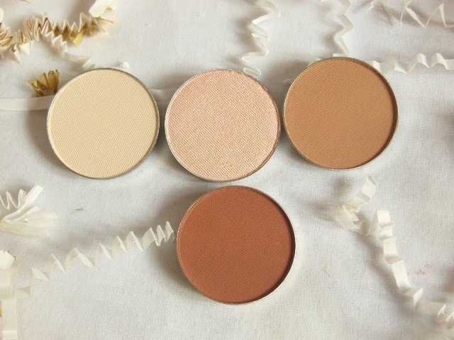Luxie Warm Neutral Powder Eye Shadows Review