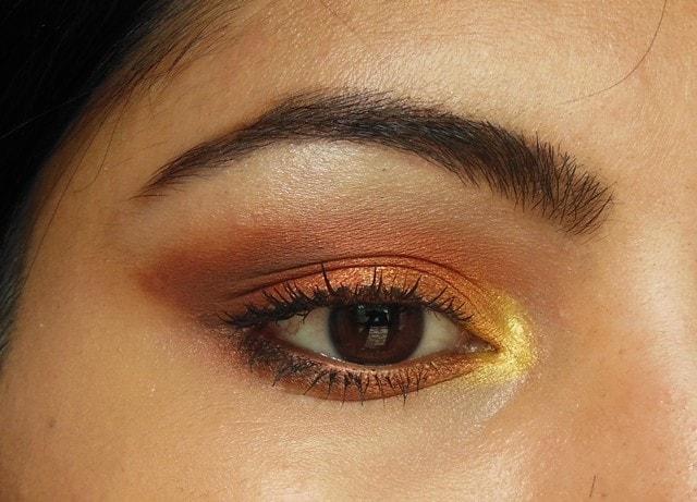 Makeup Geek Cocoa Bear and Frappe Eye Shadow Eyes 2