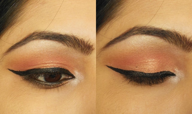 Makeup Geek Eye Shadow Mango Tango and Cosmopolitan EOTD