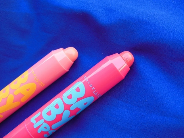 Maybelline Baby Lips Candy Wow Lip Balms Raspberry and Peach
