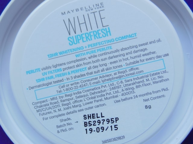Maybelline White Super Fresh Compact Claims
