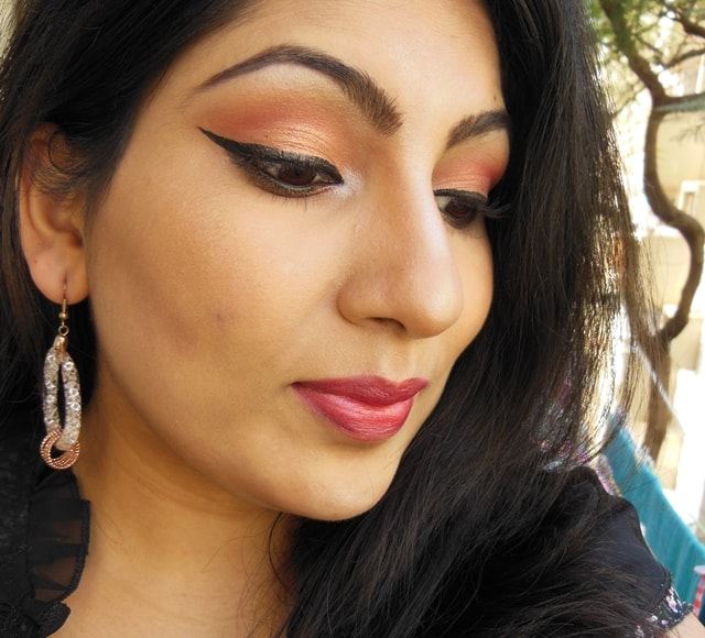 Party Perfect Rose Gold Eye Makeup Look