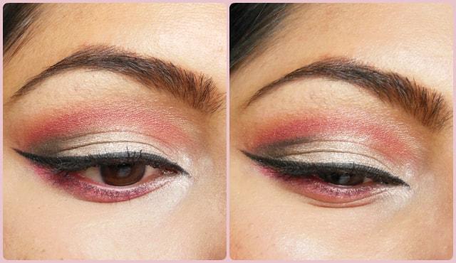 Pink Cut Crease Eye Makeup EOTD