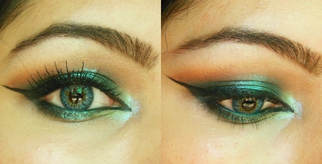Shimmery Blue Eye Makeup 1