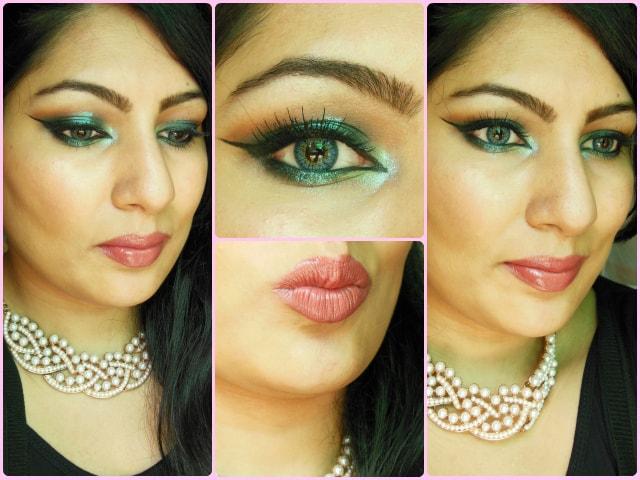 Shimmery Blue Eye Makeup Look