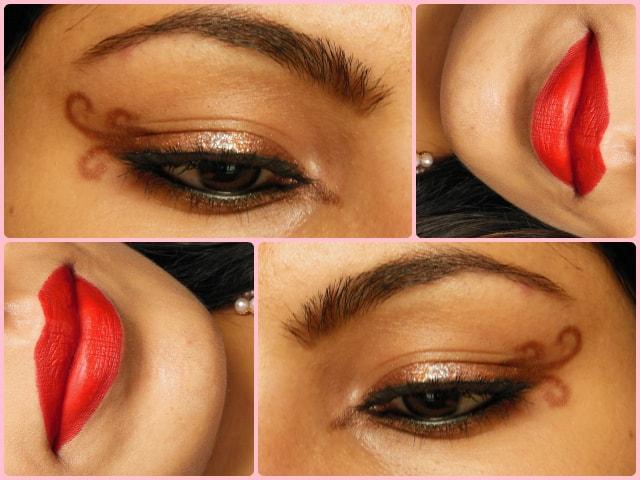 Swirly Winged Eye Liner Look