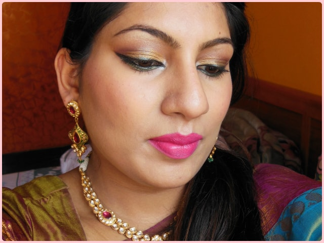 Traditional Indian Engagement Makeup Look