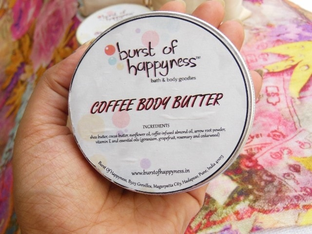 Burst Of Happiness Coffee Body Butter Packaging