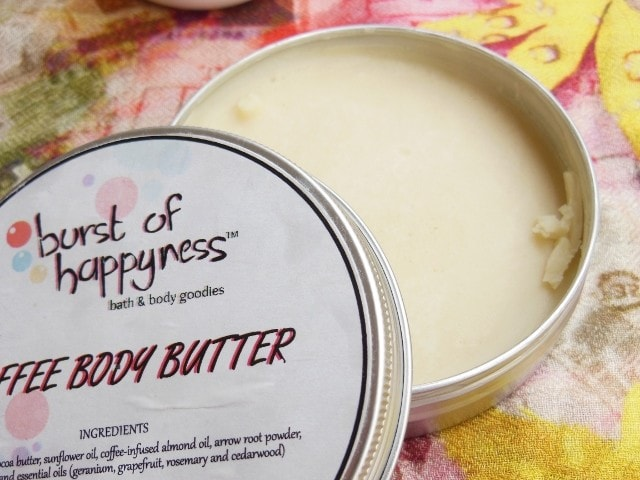 Burst Of Happiness Coffee Body Butter Review