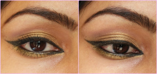 Easy Gold Eyes Makeup
