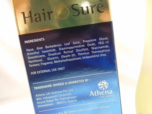 Hair For Sure Serum Ingredients