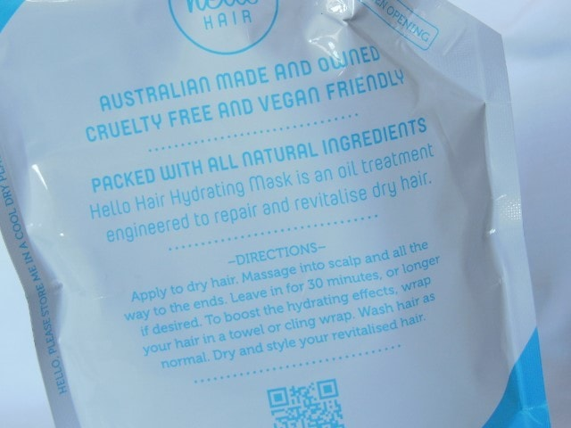 Hello Hair Hydrating Mask Directions