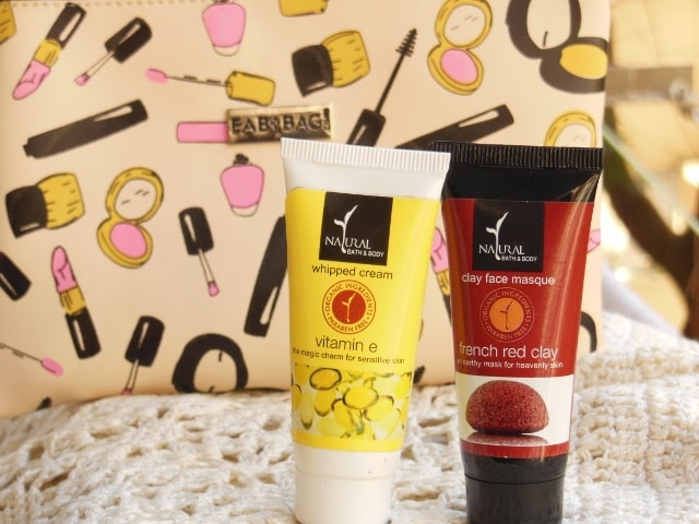 January Fab Bag 2016 - Natural Bath and Body Whipped Cream and French Clay Mask