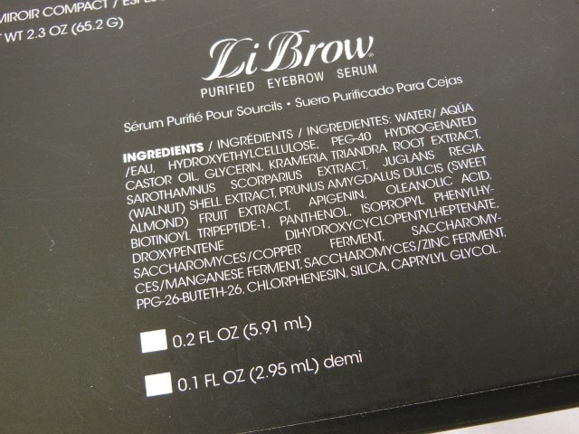 LiBrow Serum Ingredients