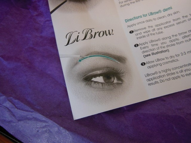 LiLash Demi Purified Brow Serum Usage