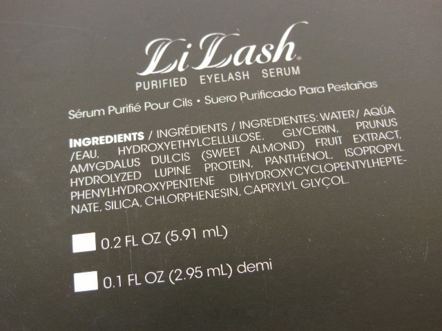 LiLash Serum Ingredients