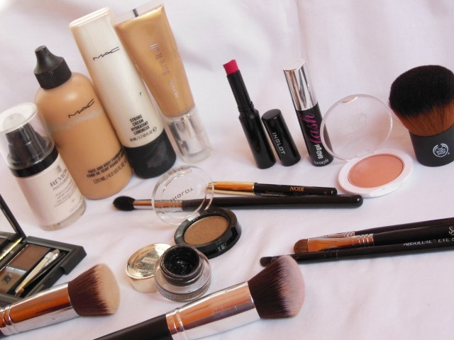Products Used for Golden Eyes and Pink Lips