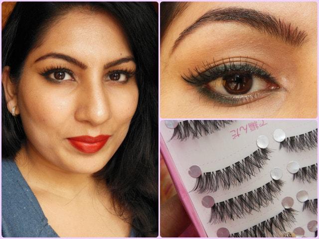 BornPrettyStore Makeup- Criss Cross Eyelashes Look