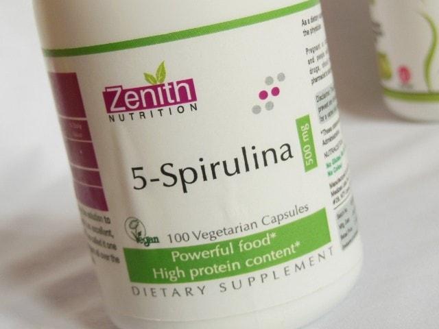 Zenith Nutrition 5-Spirulina Capsules