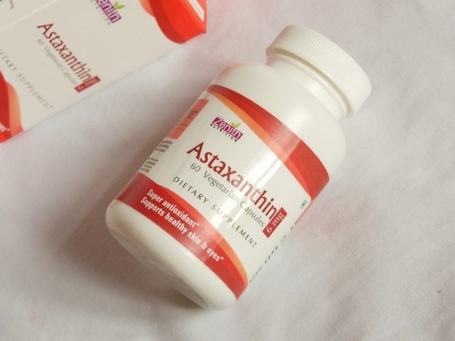 Zenith Nutrition Astaxanthin Capsules Packaging