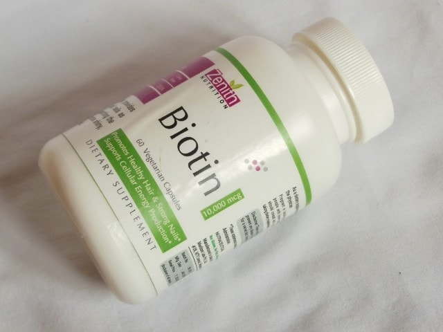 Zenith Nutrition Biotin Capsules Packaging