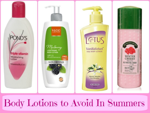 Body Lotions to Avoid in Summers