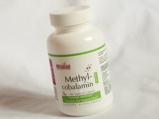 Zenith Nutrition Methylcobalamin Capsules Jar