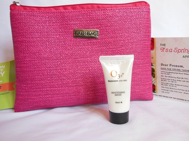April Fab Bag 2016 - O3+ Whitening Mask