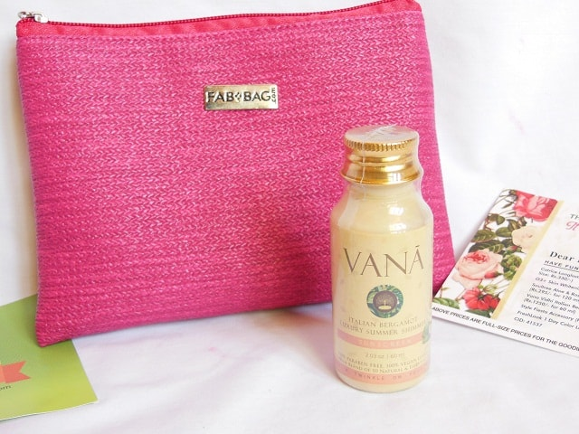 April Fab Bag 2016 - Vana Vidhi Sunscreen