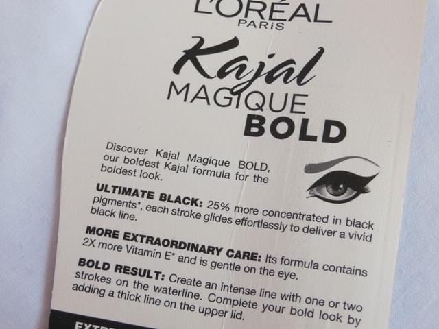 L'oreal Paris Kajal Magique Bold Claims