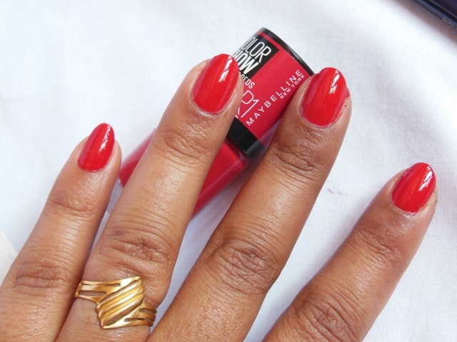 Maybelline Big Apple Reds Color Show Nail Paint - Paint The Town Red Nails