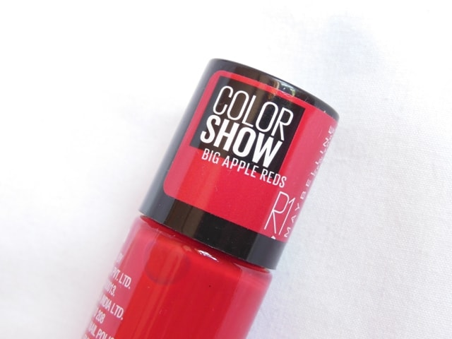 Maybelline Big Apple Reds Color Show Nail Paint R1
