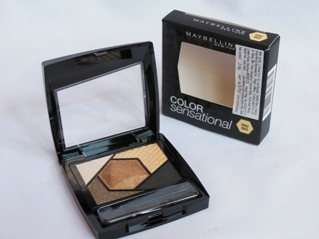 Maybelline Eye Palette Topaz Gold Review