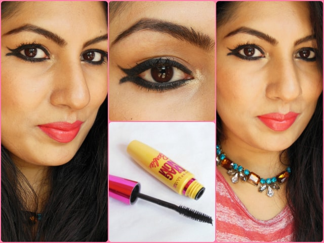 Maybelline the Magnum Barbie Mascara Makeup Look