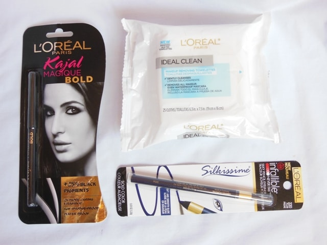 New Lauches L'Oreal Paris- Kajal Magique Bold, Makeup removing Wipes, Infallible Silkissime Eye Liner